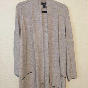 Cynthia Rowley Merino Wool Open Front Cardigan